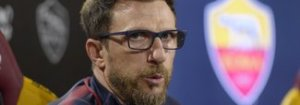 Di Francesco: «Mancano 5 partite determinanti. Out Kolarov, torna Perotti»