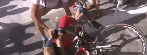 Nibali, Tour finito: viene fatto cadere da una moto e si frattura una vertebra