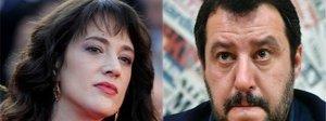 «Salvini m...»: e il ministro replica ad Asia Argento: «Non sei cattiva»