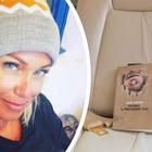 Sonia Bruganelli, foto del jet privato con un libro sul sedile: «Invidia il prossimo tuo»