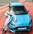 Harry Tincknell con la Ford Focus RS