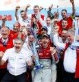 Il team Audi festeggia la doppietta nell'E-Prix di casa