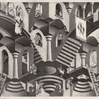 Maurits Cornelis Escher Convesso e concavoMarzo 1955 Litografia, 27,5x33,5 cm Collezione Giudiceandrea Federico All M.C. Escher works © 2016 The M.C. Escher Company. All rights reserved