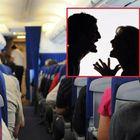 Scopre un messaggio hot sul telefono del marito: lite in aereo, pilota costretto all'atterraggio
