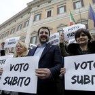 Salvini: «Al voto subito o pronti a scendere in piazza»