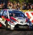 La Toyota Yaris WRC di Ott Tanak impegnata nel Rally di Germania