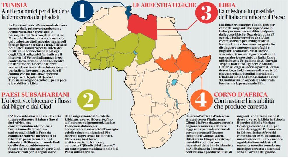 Cartina Italia E Africa.Africa Ue Un Piano Marshall Per Fermare Isis E Migrazioni