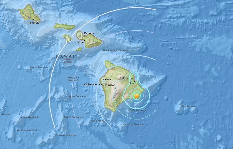 Cartina Mondo Hawaii.Hawaii Terremoto Di 6 9 Dopo Eruzione Vulcano Kilauea Video