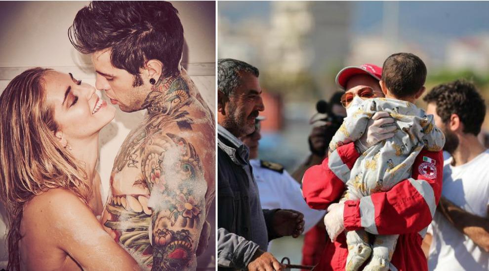 Matrimonio Spiaggia Taranto : Fedez ferragni sbarco di migranti sulla spiaggia di noto scelta