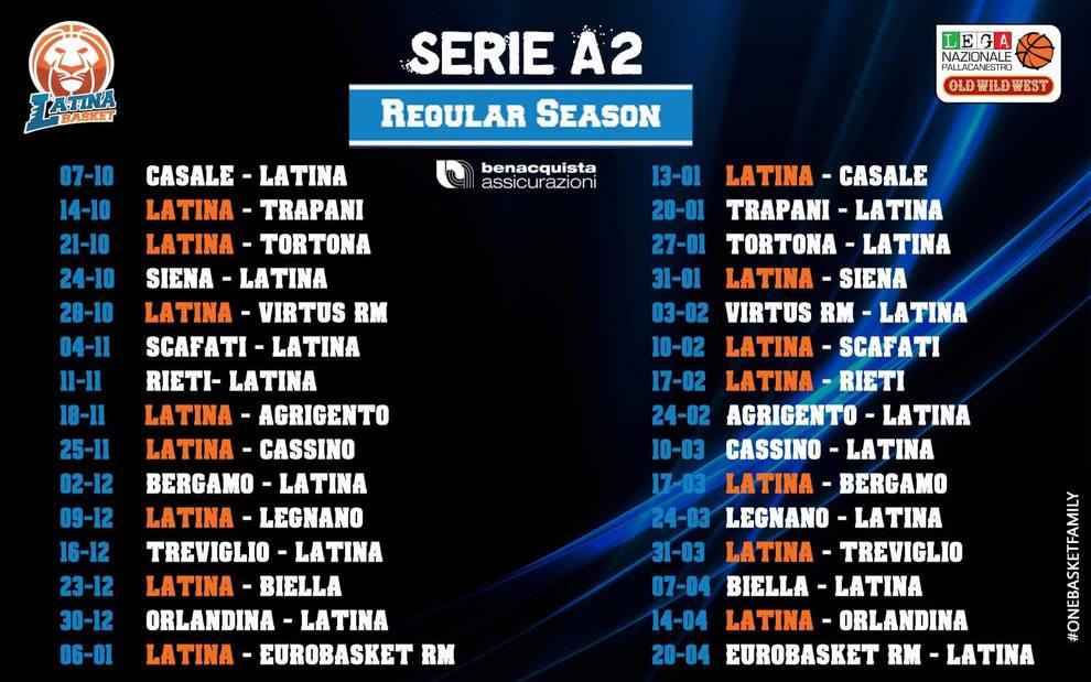 Calendario Lega Pro Girone C Pdf.Serie A2 E B Maschile Ecco I Calendari Per Latina E Scauri