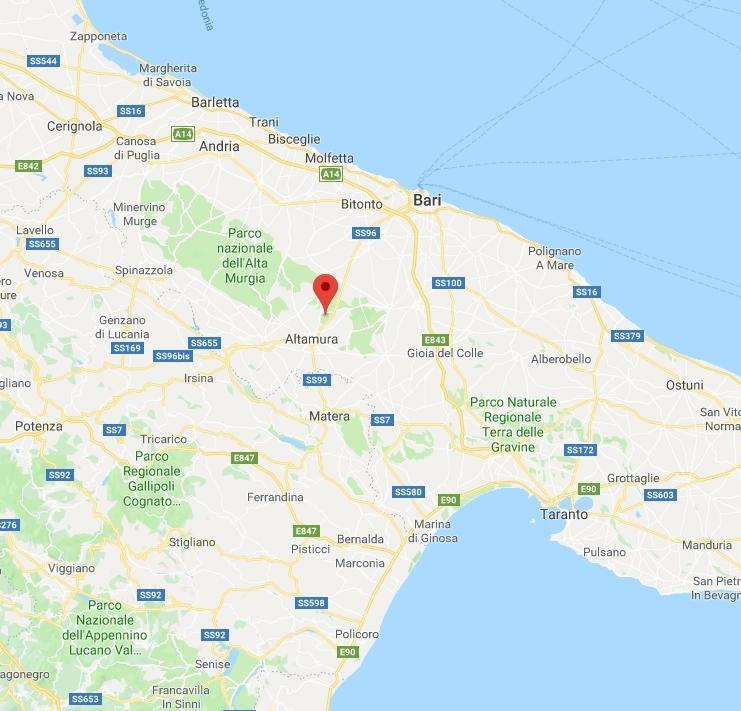 Cartina Di Gravina In Puglia.Terremoto Di 3 5 Nel Barese Paura E Gente In Strada