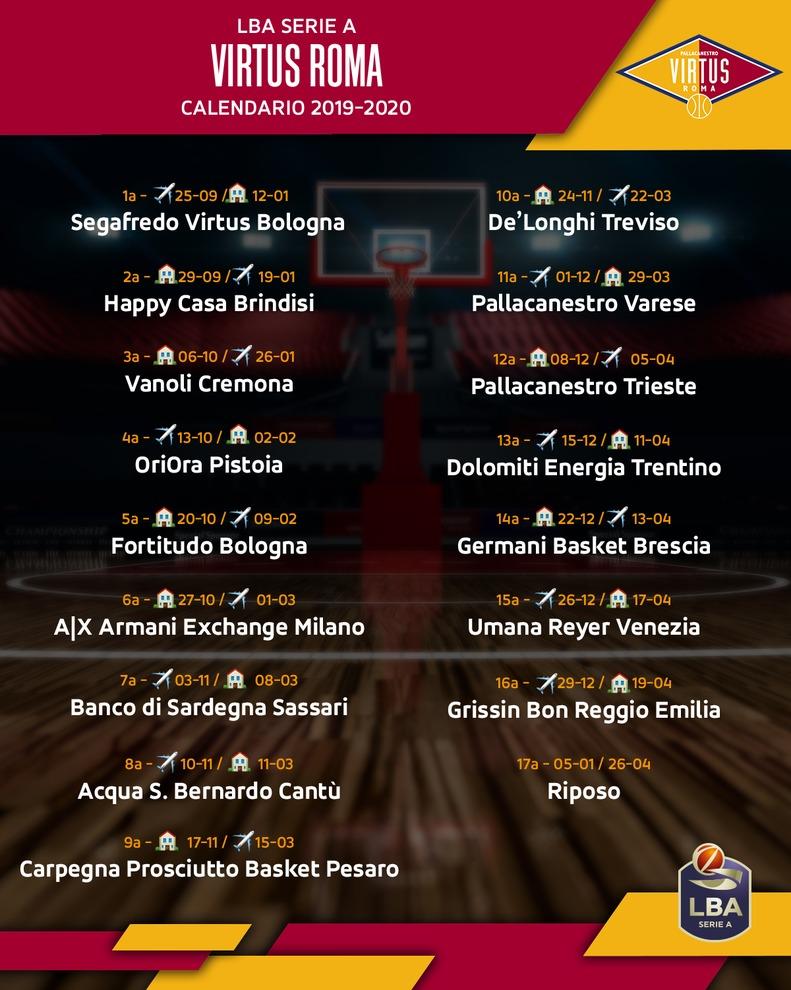 Roma Calendario Serie A.I Calendari Di Serie A Roma Comincia Contro La Virtus