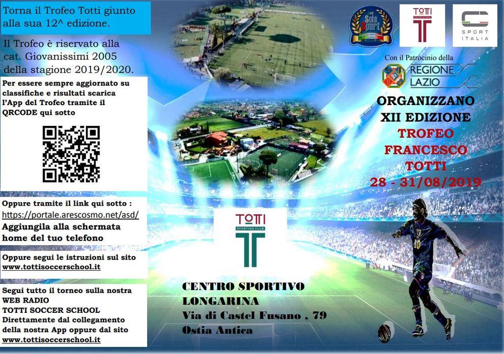 Calendario Ilary Blasi 2020.Trofeo Francesco Totti Il Calendario Dal 28 Agosto Del