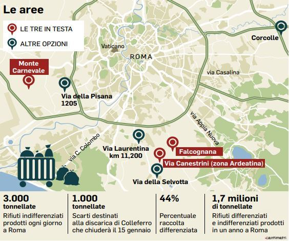Cartina Citta Roma.Rifiuti Roma La Mappa Dei Nuovi Siti Ecco I 7 Possibili Centri Di Stoccaggio