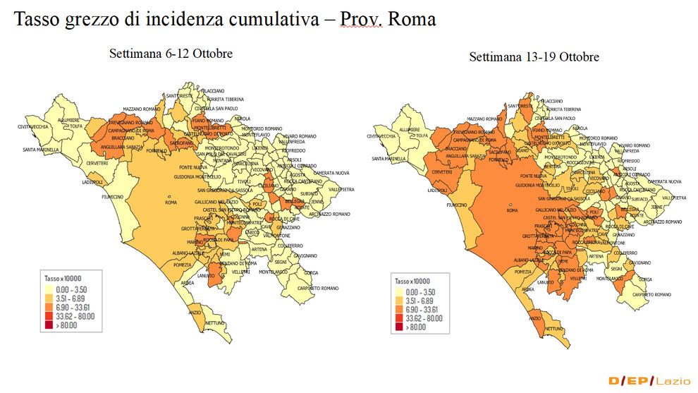 Cartina Roma E Provincia.Covid Roma E Il Lazio In 14 Giorni Boom Di Zone Rosse Ecco Dove Corre Il Contagio