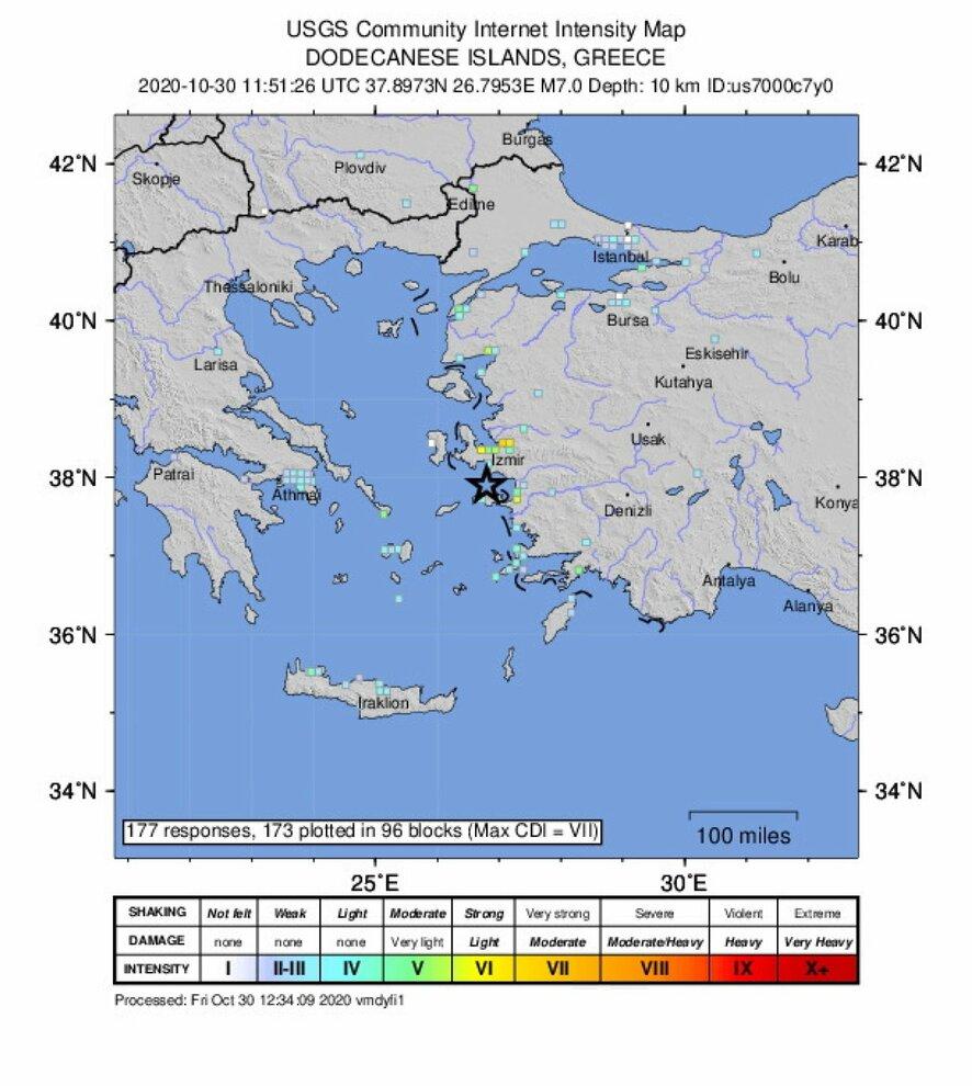 Cartina Puglia Grecia.Terremoto Di 7 0 A Samos 17 Morti Tra Turchia E Grecia A Smirne Edifici Crollati