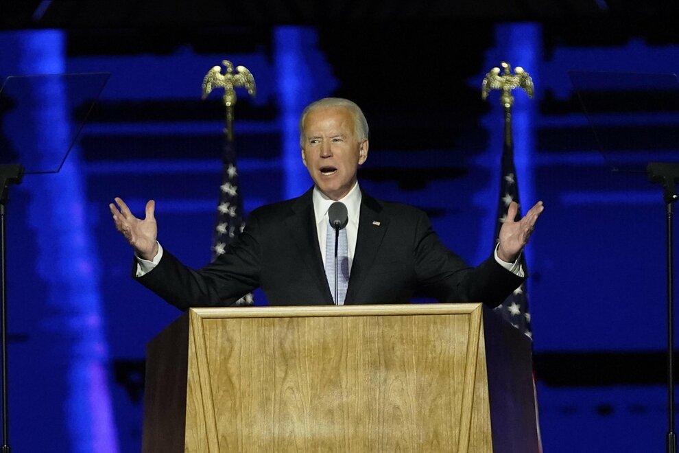 Biden, discorso da presidente eletto Usa: «È tempo di curare l'America  domani sarà un giorno migliore». Kamala Harris: «Possiamo ricostruire il  futuro»