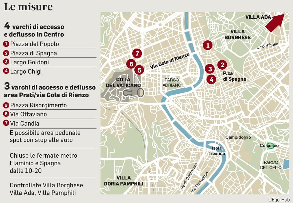 Roma Centro Cartina.Centro E Prati Varchi Per Il Numero Chiuso Pronto Lo Stop Al Traffico